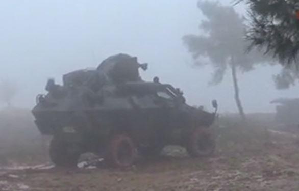YPG'li teröristler böyle ateş altına alındı