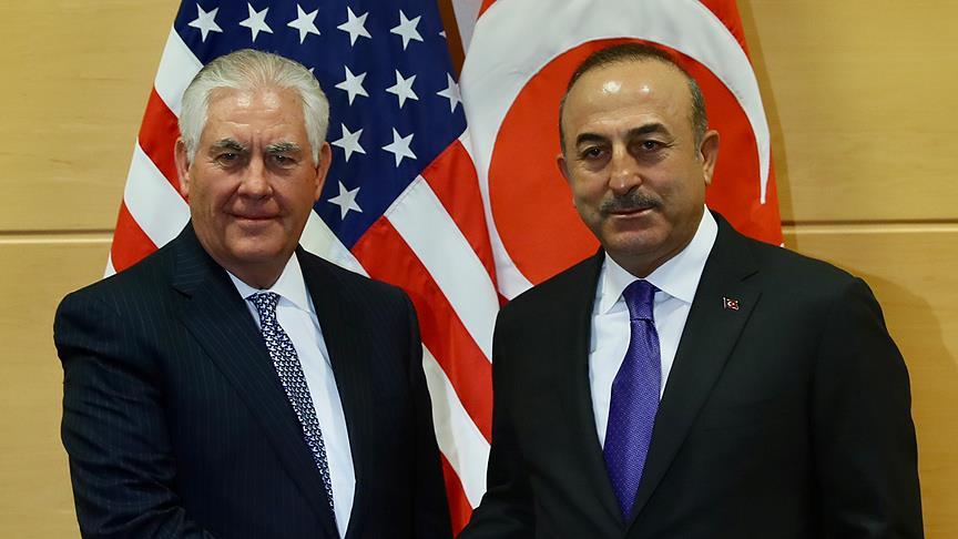 Çavuşoğlu, Tillerson ile görüştü
