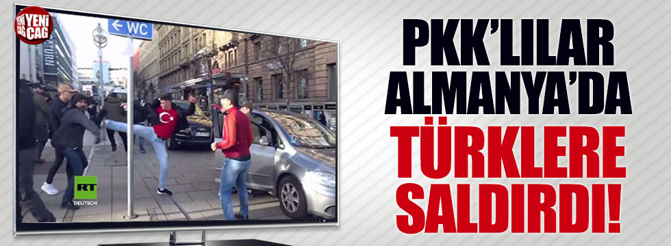 PKK'lılar Afrin'e destek için toplanan Türklere saldırdı
