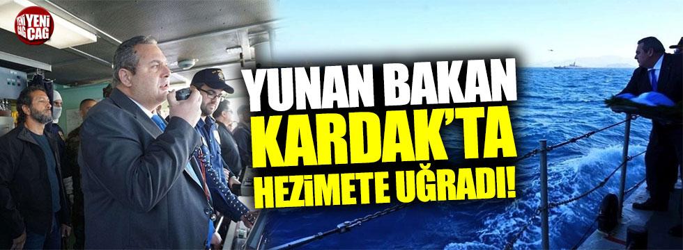 Yunan Bakan'ı Kardak'a yaklaştırmadılar