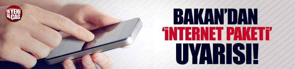 Bakan Tüfenkci'den internet paketi dolandırıcılığı uyarısı