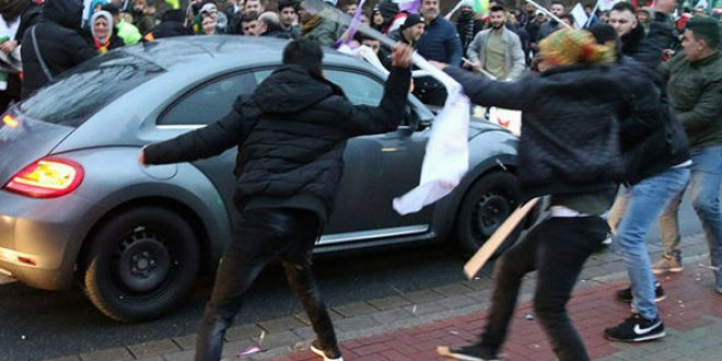 Almanya'da sokaklara inen PKK'lılar Türklere saldırdı