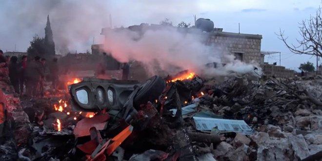 Suriye'de düşen Rus uçağının son görüntüleri ortaya çıktı