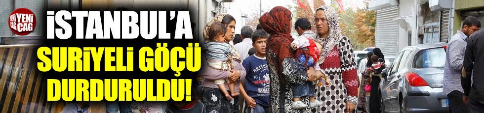 İstanbul'a Suriyeli göçü durduruldu