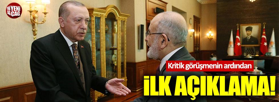 Erdoğan ile Karamollaoğlu görüşmesinin ardından ilk açıklama