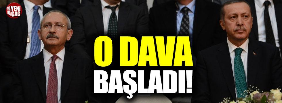 Erdoğan'ın Kılıçdaroğlu'na açtığı 1.5 milyonluk dava başladı