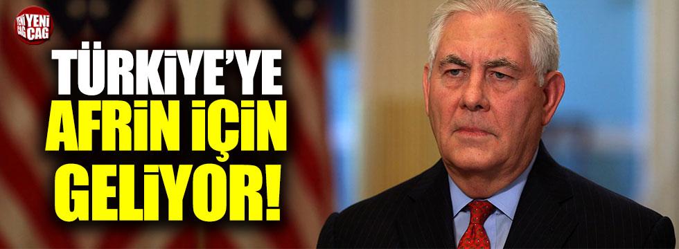 Tillerson Türkiye'ye Afrin için geliyor
