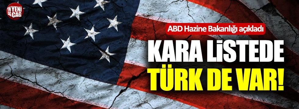 ABD'nin açıkladığı kara listede bir de Türk var