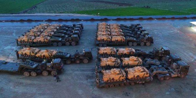 Afrin sınırına askeri sevkiyat sürüyor