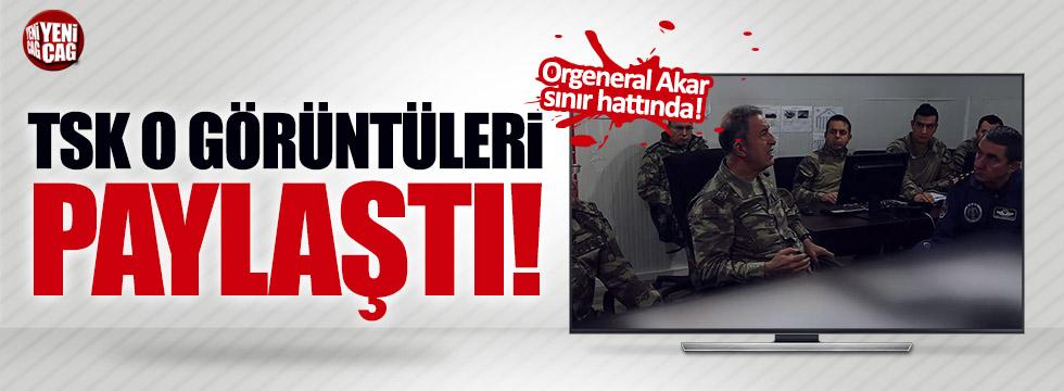 Akar'ın sınır hattındaki görüntüleri paylaşıldı
