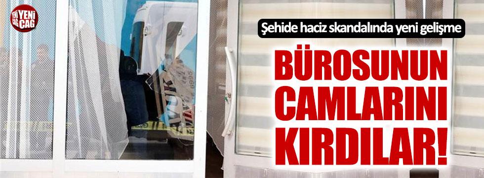 Şehit Özalkan'ın ikramiyesine haciz koyduran avukatın bürosuna saldırı