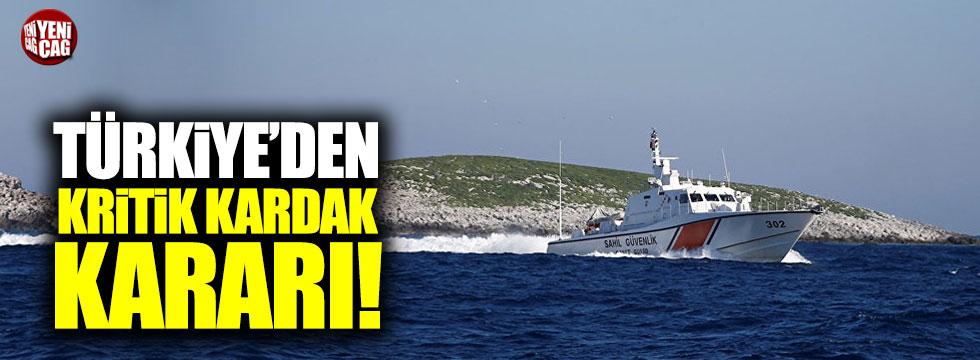 Türkiye'den Kardak yakınına gözetleme kulesi ve iskele
