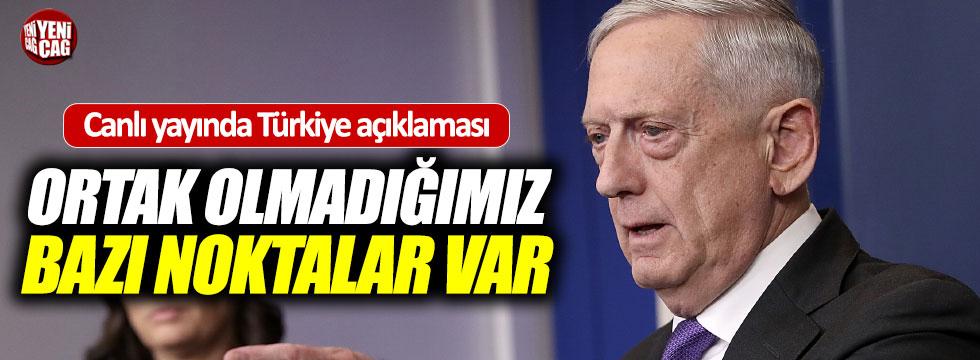 Mattis'ten Türkiye açıklaması