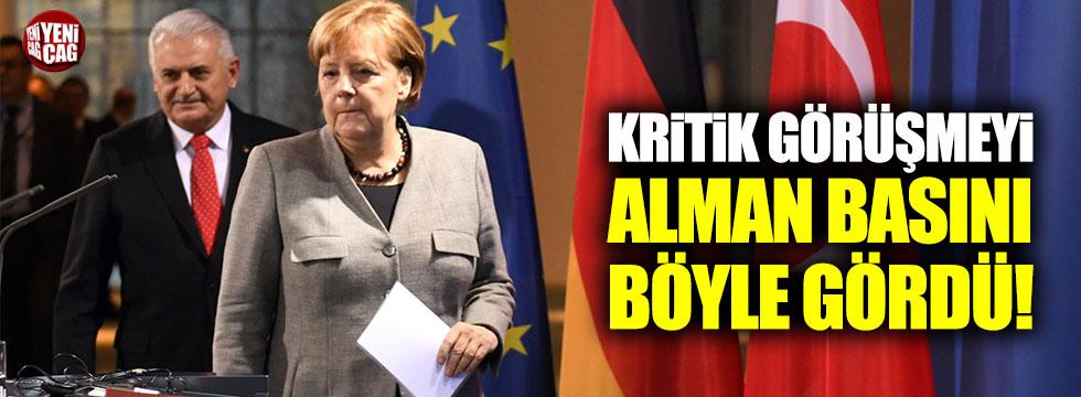 Yıldırım-Merkel görüşmesi için Alman basını neler söyledi?
