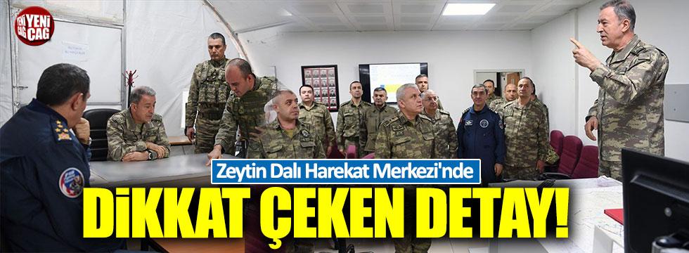 Zeytin Dalı Harekat Merkezi'nde dikkat çeken detay!