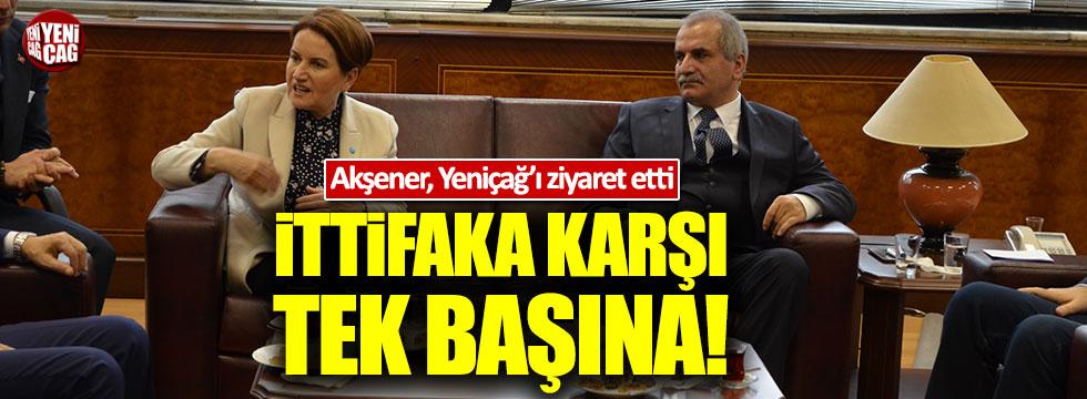 Meral Akşener, Yeniçağ Gazetesi'ni ziyaret etti
