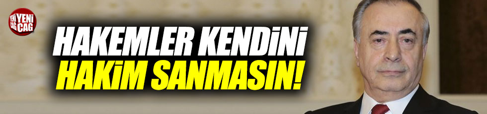 Mustafa Cengiz'den hakem tepkisi.