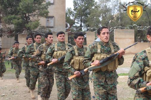 Uluslararası Koalisyon, YPG'lileri böyle eğimiş