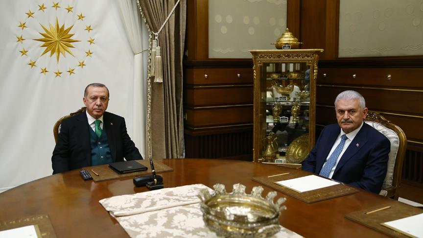 Erdoğan, Yıldırım, Fidan ve Akar'ı ayrı ayrı kabul etti