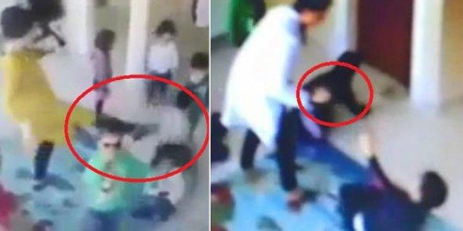 Kreşte öğrenciye şiddet skandalı