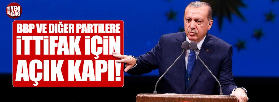 Erdoğan'dan diğer partilere ittifak kapsını açtı