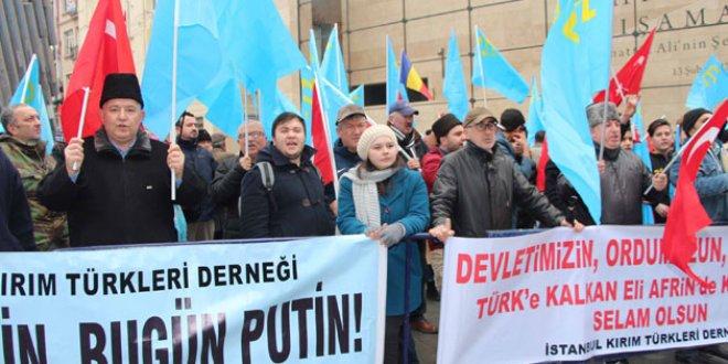 Beyoğlu'nda Kırım protestosu