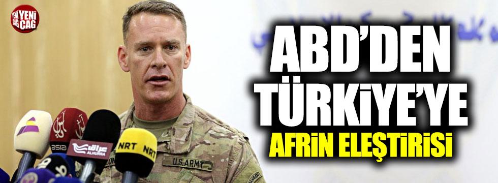 ABD'den Türkiye'ye Afrin eleştirisi