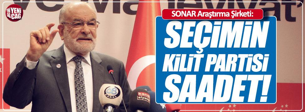 "SONAR: ""Seçim kilit partisi Saadet"""