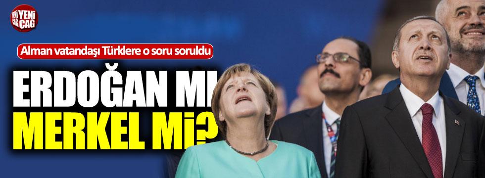Almanyalı Türkler Merkel'i Erdoğan'a tercih etti