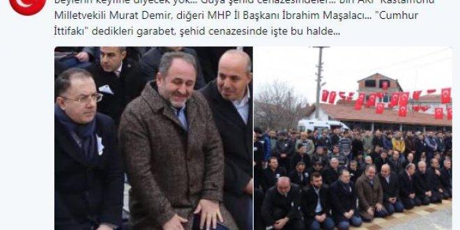 AKP'li Demir ve MHP'li Başkan'ın cenazede güldüğü fotoğraflar tartışma yarattı
