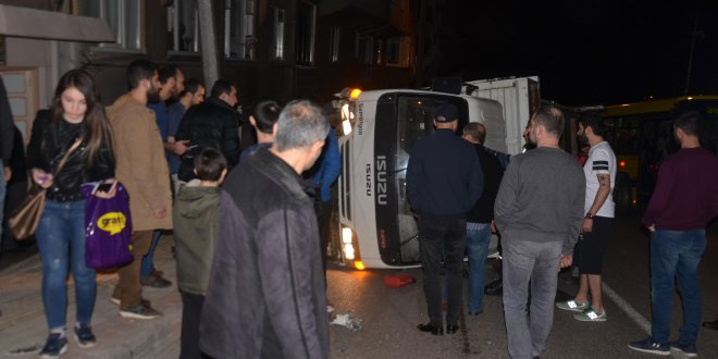 Mahalleliden kaza yapan gençlere linç