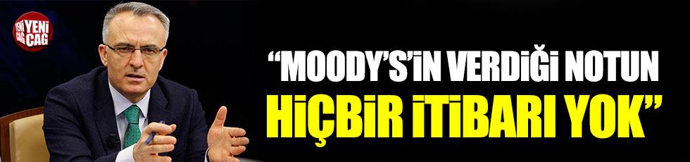 Ağbal'dan Moody's açıklaması