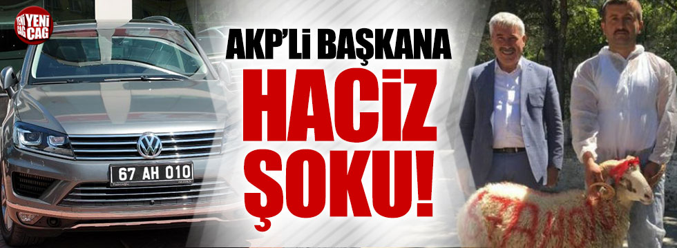 AKP'li belediye başkanının kurban kestirdiği lüks makam aracına haciz