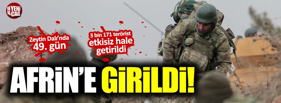 TSK Afrin'e girdi