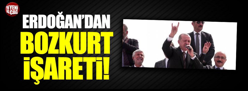 Cumhurbaşkanı Erdoğan bozkurt işareti yaptı