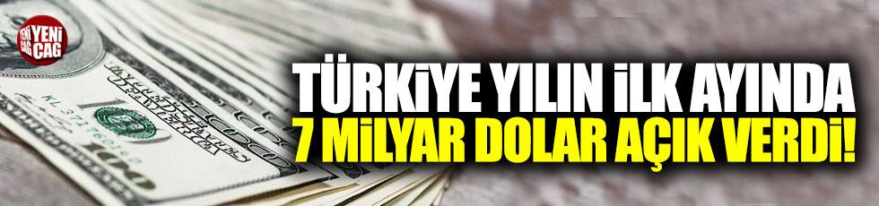 Türkiye, yılın ilk ayında açık verdi