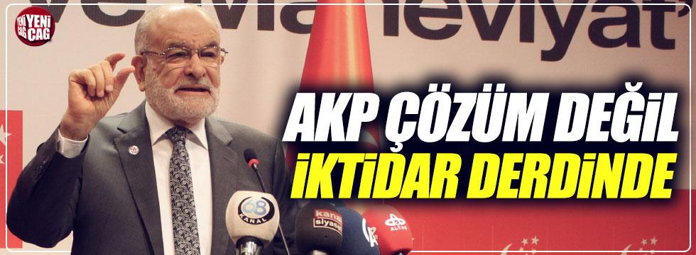 """""""AKP çözüm değil iktidar derdinde"""""""