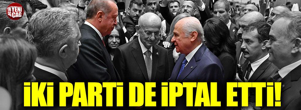 AKP ve MHP grup toplantısı iptal edildi!