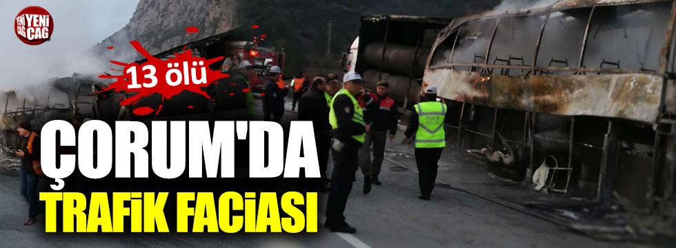 Çorum'da yolcu otobüsü TIR'a çarptı: 13 ölü