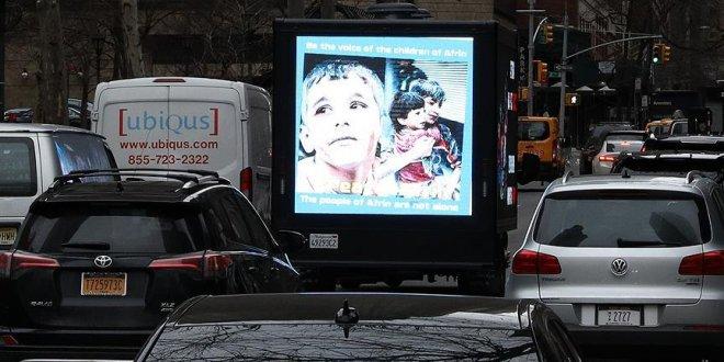 New York sokaklarında Afrin yalanı