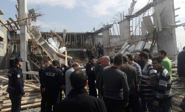 Kahramanmaraş'ta inşaatta göçük: 2 ölü