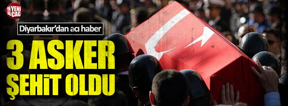 Diyarbakır'da 3 asker şehit oldu