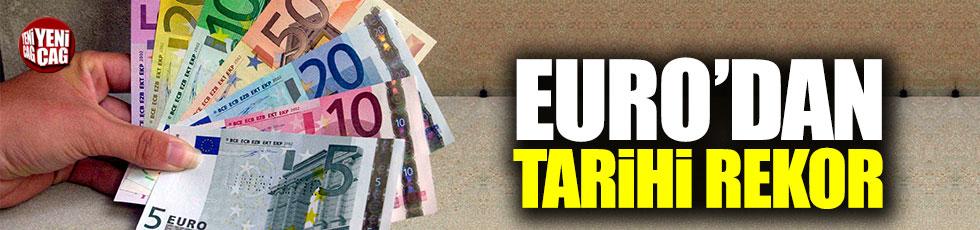 Euro tarihi rekor kırdı