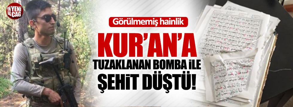Sürmen, Kur'an'a tuzaklanan bomba ile şehit düştü