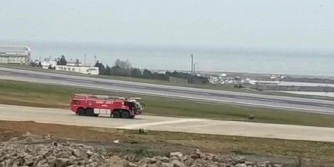 Trabzon Havalimanı'nda acil durum