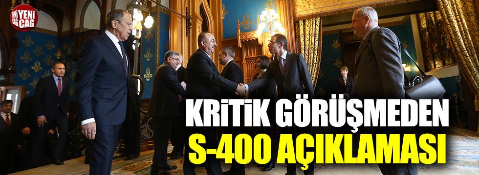 Çavuşoğlu-Lavrov görüşmesinden S-400 açıklaması