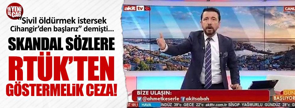 RTÜKten Akit TVye Cihangir cezası