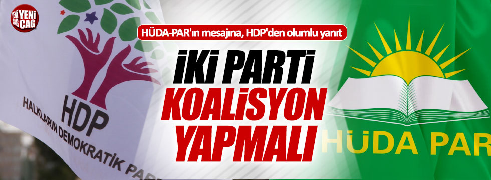 HDP'den HÜDA-PAR'a ittifak cevabı