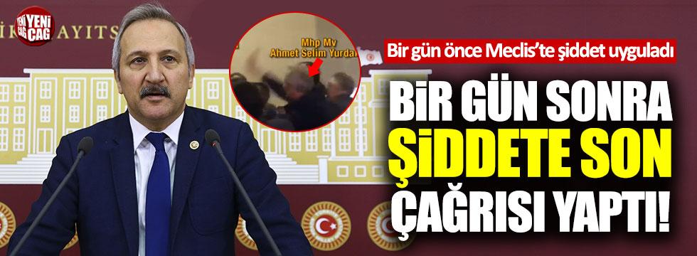CHP'li vekile tokat atan MHP'li Yurdakul, toplantıyı terk etti