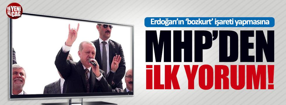 Erdoğan'ın 'bozkurt' işareti yapmasına MHP'den ilk yorum geldi